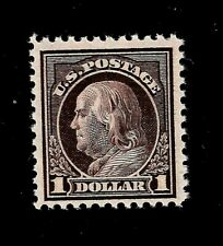 US 1917 Sc 518  $1.00 Violet Brown FRANKLIN VF Mint NH - Vivid Color - GEM