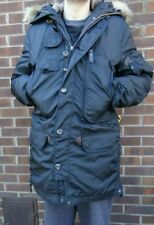 PARAJUMPERS NWT MEN DOWN RIGHT HAND MASTERPIECE JACKET BEIGE ON BLACK SIZE 2XL