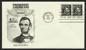 #1303 4c Lincoln-Pair, Fleetwood-Add FDC **ANY 4=FREE SHIPPING**