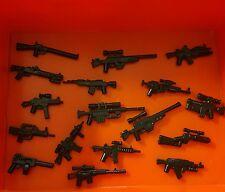12x Custom Weapons guns for LEGO Minifigures