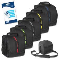Kameratasche Gr. M Fototasche Schultergurt Tasche + Displayfolie für Nikon D