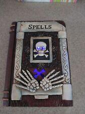 "Led Lighted Skeleton Skull ""Spells"" Library Book, Halloween Prop, Spooky!"