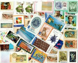 AU$45.00 OF UNFRANKED ON PAPER STAMPS FROM AUSTRALIA, IPs. HVs AND OTHERS