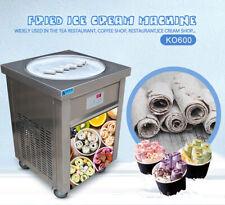 "Kolice Etl 22"" round pan fried ice ceram roll machine,fry ice cream machine"