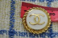 STAMPED VINTAGE CHANEL BUTTON 1 pieces  One WHITE