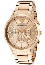 NEW EMPORIO ARMANI AR2452 Mens Rose Gold Classic Watch