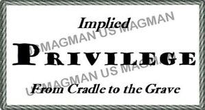 White Privilege Card Gag Novelty Wallet Size Collectable Laminated Gift Momento.
