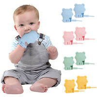 2pcs Silicone Baby Gloves Teether Mittens Infants Soother Soothing Chew Toy