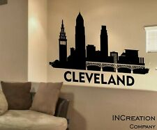 Cleveland Skyline Vinyl Wall Decal Wall Sticker Man cave Bedroom Removable 23x36