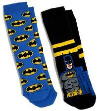 Garçons 2 paires chaussons chaussettes Batman taille uk 6-8.5 / 2-3 ans