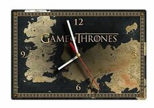 Game of Thrones Map - Glass Clock