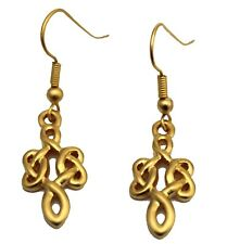 GOLD PLATED CELTIC KNOT EARWIRE EARRINGS (8012)