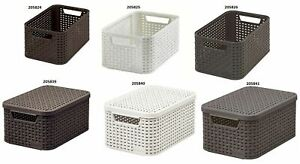 Curver Storage Box with Lid and Container Without Lid Organization Box Style S