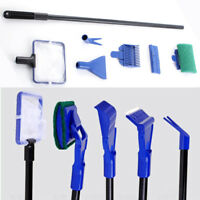 5 in1 Fish Tank Aquarium Cleaning Kit Glass Brush Fishnet Magnetic Cleaner C