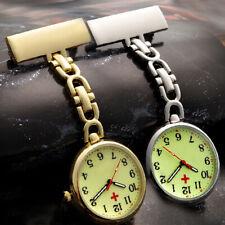 Luminous Stainless Steel Nurse Watch Pocket Watch Brooch Fob Tunic Quartz Watch