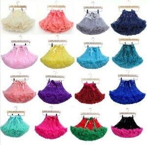Girls Tulle Skirt Ballerina Petticoat Layers TUTU RARA Skirt 43 Colours UK Stock