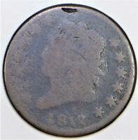 1812 Large Date Classic Head Large Cent; AG