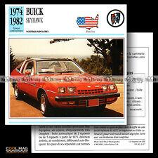 #021.17 BUICK SKYHAWK V6 (1974-1982) - Fiche Auto Car card