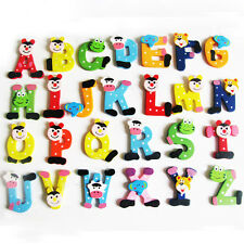 Alphabet 26pc A-Z Letters Toy Wooden Fridge Magnets Cartoon Children Educational