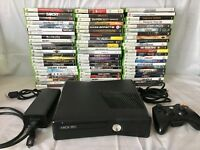 Best Microsoft Xbox 360 Slim Bundle, 4GB HDD, One Controller, Cables & 5 Games!!