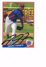 2017 Tennessee Smokies Daury Torrez Chicago Cubs Authentic Autograph COA