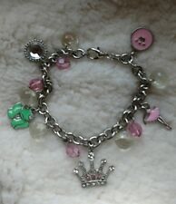 PRINCESS & The FROG FAIRY TALE 5 Charm Silver Charm Bracelet  ??Juicy Couture??