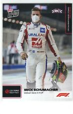 """2021 Topps Now Formula 1 - #002 MICK SCHUMACHER Rookie Card """" Debut Race in F1 """""""