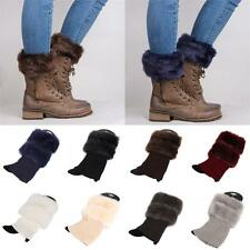 Cover Accessories Cuffs Toppers Trim Fur  Crochet Knit Leg Warmer Boot Socks