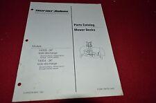 Bolens 14003 14004 Mower Deck Tractor Dealer's Parts Book Manual CHPA
