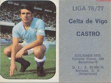SANTIAGO CASTRO ANIDO # ESPANA RC.CELTA VIGO CARD TARJETA ESTE LIGA 1977