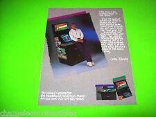 TEAM QUARTERBACK By LELAND 1985 ORIGINAL NOS VIDEO ARCADE GAME FLYER JOHN ELWAY