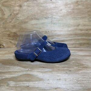 Vionic 474 Lidia Suede Mary Jane Mule Shoes, Women's size 6, Blue