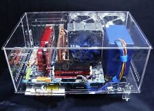 DIY Clear Hard Acrylic ATX Computer Case Box for Water Liquid Cooling System