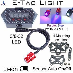 E-Tac Light Compound Bow Sight Light 3/8-32 Rechargeable BT Sensor Auto On/OFF