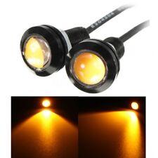 9W Car 23mm 5730 LED Amber Yellow Eagle Eye Light DRL Fog Bulbs 12V