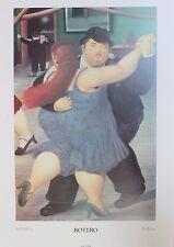 Fernando Botero Lithograph Poster Ballerini 1991