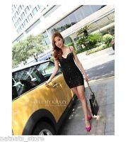 Glitter Sweetheart Neck Bodycon Party Mini Sequin Little Black Dress 8083
