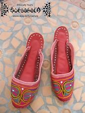 Ethno Nomad tribal Chaussures slipper Chaussures Cuir Cuir Inde Hippie Goa 35 36,5