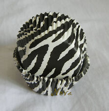 100pcs Black and white zebra cupcake liners bake paper cup muffin cases party