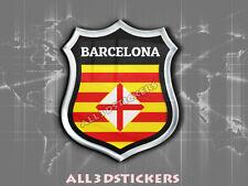 Pegatina Emblema 3D Relieve Bandera Barcelona - Todas las Banderas del MUNDO