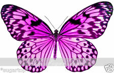 24 Gorgeous PINK Speckled Colour Butterflies Edible Decorations Cup Cake Toppers