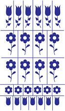 Armour Rub 'n' Etch Glass Etching Stencil  ~ Daisies & Tulips