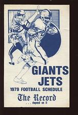 1979 The Record New York Jets & Giants NFL Football Schedule