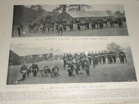 1896 NO.4 Mountain Batteria Royal Artiglieria IN Azione