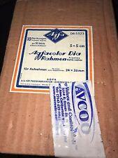 Vintage AgfaColor Dia Rahmen 5x5cm Frames for Size 4x4cm Slides (10 Boxes)