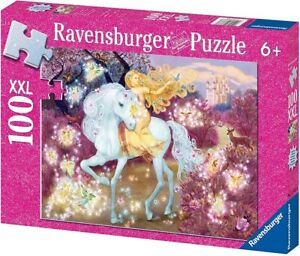 Ravensburger 100 Piece Jigsaw Puzzle - Glitter Riding In The Woods