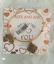 Alex and Ani Because I Love You DAUGHTER Rafaelian Gold Bangle New W/Tag Card