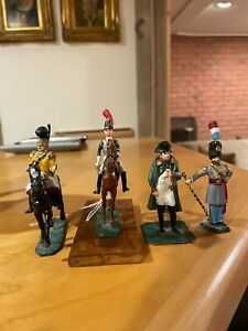 4 Rare Well Painted lead Napoleonic Troopers including Stadden? Napoleon!!