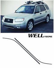 WellVisors Clip On Side Window Visors Deflectors For 03-08 Subaru Forestor