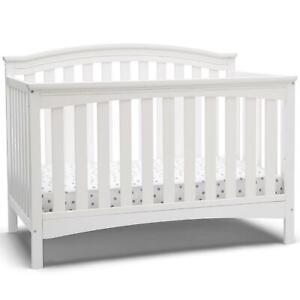 Delta Children Waverly 6-in-1 Convertible Crib, Bianca White